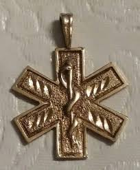 paramedic ems star of life 14k gold