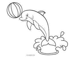 Some different dolphin coloring pages and drawing styles: Free Printable Dolphin Coloring Pages For Kids