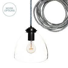 custom made 8 clear blown glass black pendant light dark sweater cord
