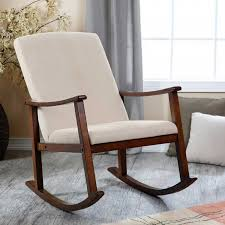 Wooden Rocking Chair Cushions Silo Christmas Tree Farm Home