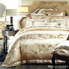 fieldcrest luxury duvet cover set atmosphere ivory sets king bed linen home textile gold jacquard satin