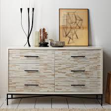 Wood Tiled 6-Drawer Dresser