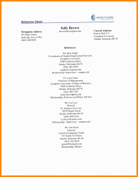 Reference Pages For Resumes Sample Reference Page For Resume Magdalene Project Org