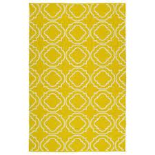 kaleen brisa yellow 9 ft x 12 ft indoor outdoor reversible area rug