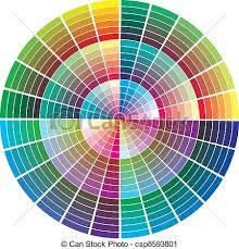 Color Calibration Chart Vector Color Palette