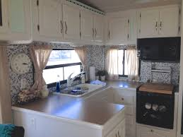 Redecorating Kitchen Renovating Our 5th Wheel Camper A Diy Follow The High Line Home