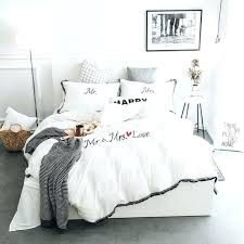 white duvet cover queen cotton black and camille full bedrooms delectable pink grey tassels