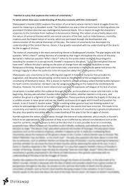 hamlet essay uncertainty year hsc english advanced hamlet essay uncertainty