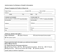 Personal Health Record Forms Free Template For Medical History Health Form Records