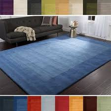 6x9 blue area rugs inspirational hand loomed risor solid bordered wool area rug 7 6 x