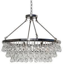 celeste glass drop crystal chandelier brushed nickel small