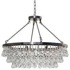 celeste glass drop crystal chandelier brushed nickel small