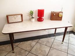 vintage 1960 s marble formica long side coffee table dansette legs mid century