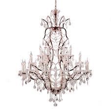 crystal chandelier large antique rust