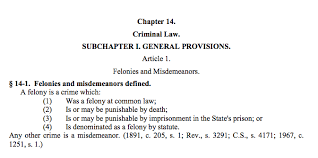 Felony Chart Nc What Happens When Convicted Of A Felony