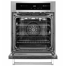 single electric wall oven self cleaning