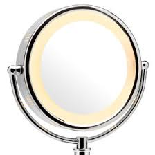 double sided mirror with soft surround lighting plus glare free and fog free