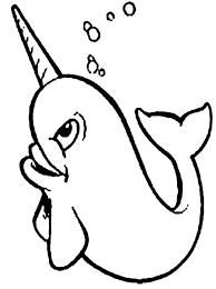 Small Picture Happy Narwhal Coloring Page NetArt