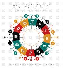 Natal Chart Astrology Background Blank Natal Chart Stock Vector Image