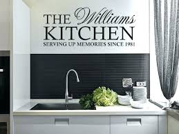 wall decals and kitchen wall stickers personalised family