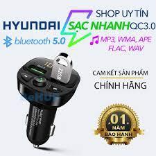 Tẩu nghe nhạc bluetooth 5.0 cho ô tô, phát nhạc chất lượng cao, kèm sạc  nhanh, hiển thị điện áp ắc quy hàng chính hãng tại Hà Nội