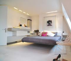 Floating Bed Magnetic Bedroom Futuristic Grey Bedroom Floating Bed And White Wall
