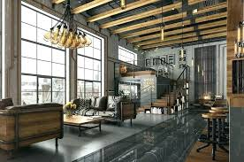 industrial style home office. Modern Industrial Home Design Style Decor  Furniture Living Room With . Office