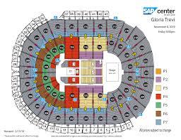 Sap Center Seating Chart Concert Gloria Trevi Sap Center