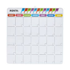 J Burrows Magnetic Monthly Calendar Board 356 X 356mm