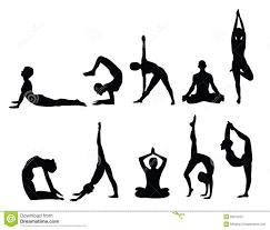 Yoga Chart Free Yoga Silhouettes Stock Vector Illustration Of Elements