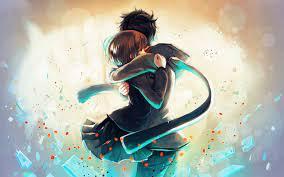 Anime Couple Hug - Anime Love Wallpaper ...