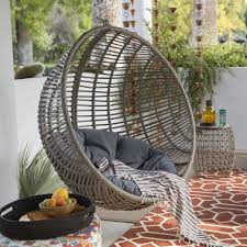 outdoor hanging furniture. Shocking Review Wicker Hanging Chair With Stand By Island Bay Pics Of Outdoor Basket Concept And Furniture P