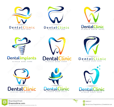 Dental Dentist Logo Set Stock Vector - Image: 58805547