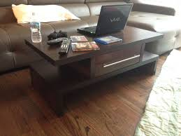furniture custom made java espresso coffee table wdrawers by mad tables square round and end