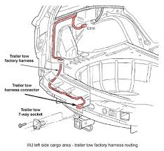 wiring diagram for jeep grand cherokee 2000 images window wiring wj cargo area showing routing of factory trailer wire harness