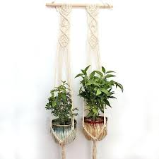 wall plant hangers macrame hanging wall plant hanger 1 2 or 3 woven macrame wall plant wall plant hangers