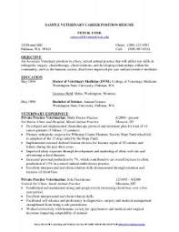 examples of resumes example resume sample resume for veterinarian nice sample resume within an example sample veterinary resume