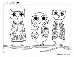 Small Picture Made by Joel Owls Coloring Sheet