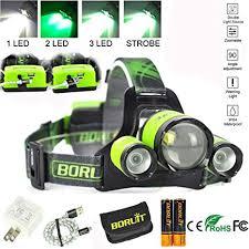 BORUIT Upgrade Rechargeable Zoomable Headlamp, 4 Modes ...