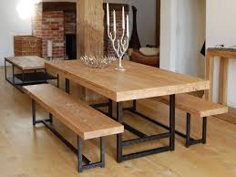 black iron furniture. Black Iron Furniture. Rectangle Cream Wooden Dining Table And Bench Having Furniture T