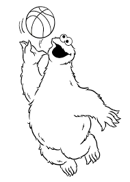 Sesame Street Cookie Monster Coloring Pages Sesame Street Cookie