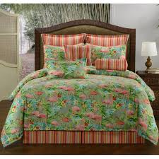 delectably yours com pink flamingos tropical bedding comforter or duvet bed set by victor