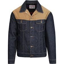 Lee Storm Rider Mens Retro 70s Mod Cord Denim Jacket