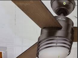 hunter mayford 54 in led indoor brushed slate ceiling fan w