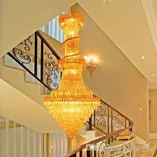 crystal chandeliers led chandelier lighting luxury fancy villas hotel stairs double duplex apartment stairs crystal chandeliers with bulbs beaded chandelier