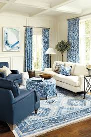 Astounding Blue Living Room Sets Chairs Sofa White Couch Dark Blue  Armchairs Blue Patterned Curtains White