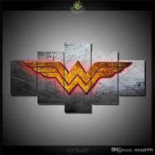 2018 5 panels wonder woman logo modern abstract canvas oil painting print wall art decor for living room home decoration from eternal996 18 15 dhgate  on wonder woman canvas wall art with 2018 5 panels wonder woman logo modern abstract canvas oil painting