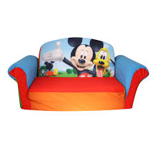 marshmallow furniture children s 2 in 1 flip open foam sofa disney mickey mouse club house by spin master com
