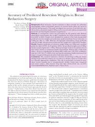 Schnur Sliding Scale Chart Pdf Accuracy Of Predicted Resection Weights In Breast