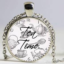 Quote Jewelry Custom Wholesale Tea Time Quote Pendant Quote Necklace Quote Jewelry Tea